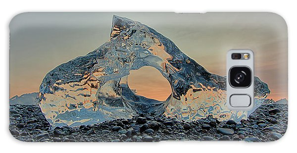 Galaxy Case featuring the photograph Iceland Diamond Beach Abstract  Ice by Nathan Bush