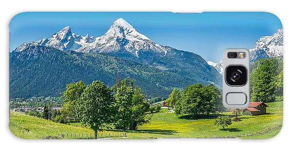 Pasture Galaxy Case - Idyllic Summer Landscape In The Alps by Canadastock