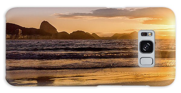 Idyllic Sunrise In Copacabana Beach In Rio De Janeiro, Brazil Galaxy Case