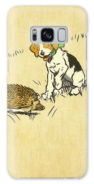 Puppy And Hedgehog, Illustration Of Galaxy Case