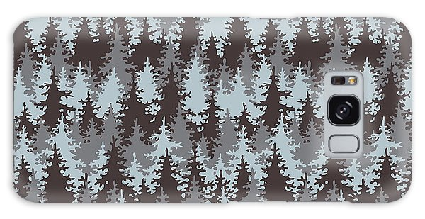 Pine Branch Galaxy Case - Illustration Coniferous Forest by Baksiabat