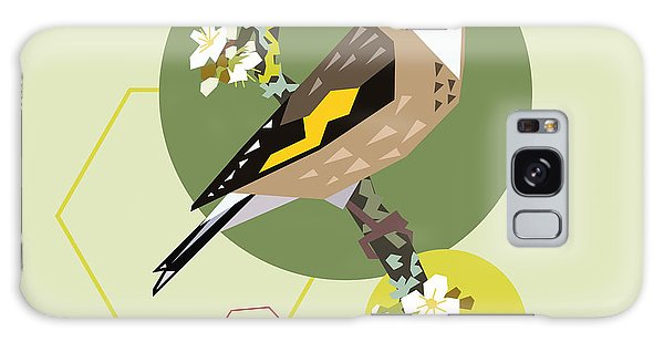 Form Galaxy Case - Illustration Of A Bird On Blooming by Radiocat