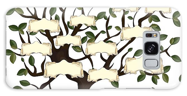 Branch Galaxy Case - Illustration Of Family Tree With by Gordana Simic