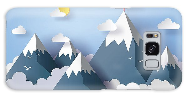 Cloudscape Galaxy Case - Illustration Of Nature Landscape And by Keng  Merry Paper Art