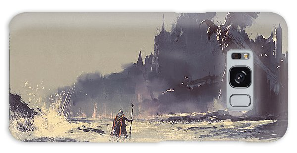 Mythology Galaxy Case - Illustration Painting Of King Walking by Tithi Luadthong
