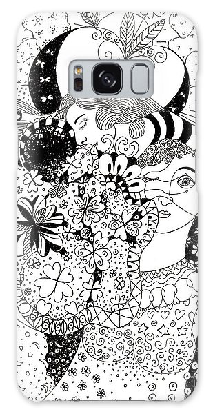 Organic Abstraction Galaxy Case - In Light And Dark by Helena Tiainen