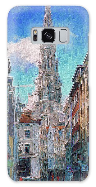 Galaxy Case featuring the photograph In-spired  Street Scene Brussels by Leigh Kemp