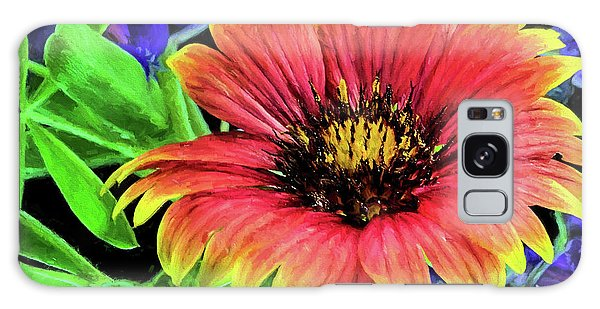 Indian Blanket Flower Closeup Galaxy Case
