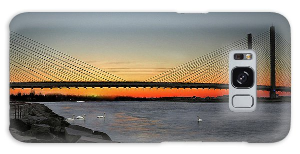 Galaxy Case featuring the photograph Indian River Bridge Over Swan Lake by Bill Swartwout Fine Art Photography