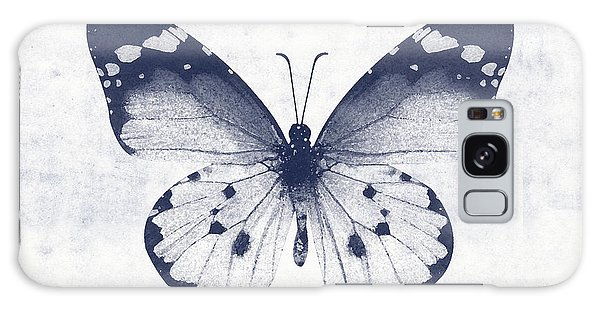 Insect Galaxy Case - Indigo And White Butterfly 1- Art By Linda Woods by Linda Woods