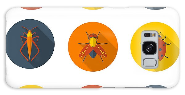 Potato Galaxy Case - Insects Flat Icons by Sly Raccoon