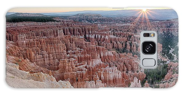 Galaxy Case featuring the photograph Inspiration Point Sunrise Bryce Canyon National Park Summer Solstice by Nathan Bush