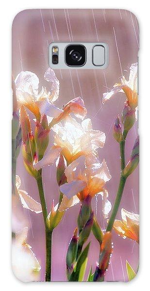 Iris In Rain Galaxy Case