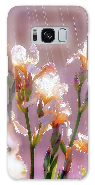 Iris In Rain Galaxy Case