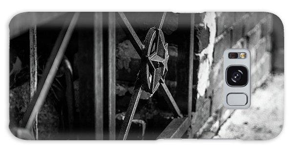Galaxy Case featuring the photograph Iron Gate In Bw by Doug Camara