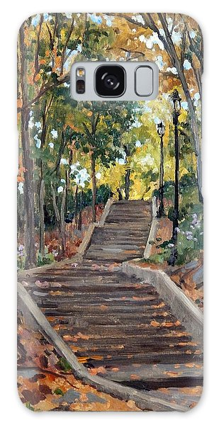 Isham Park Steps New York Autumn Galaxy Case