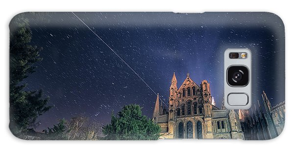Iss Over Ely Cathedral Galaxy Case