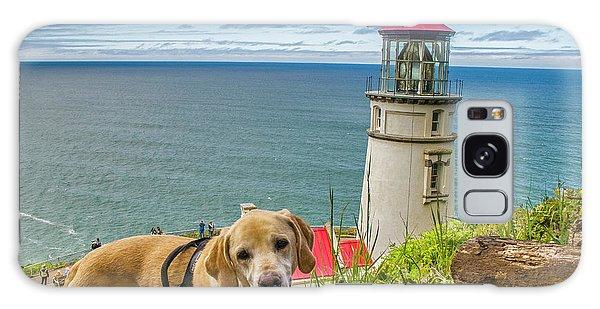Jackson At Heceta Head Lighthouse Galaxy Case