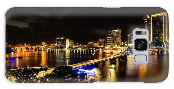 Jacksonville Skyline By Night Galaxy Case