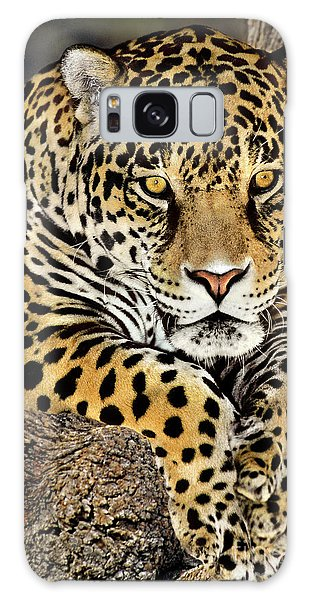 Jaguar Portrait Wildlife Rescue Galaxy Case