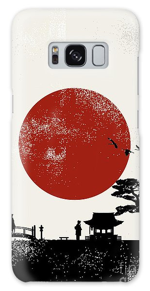 Buddhism Galaxy Case - Japan Scenery Poster, Vector by Seita