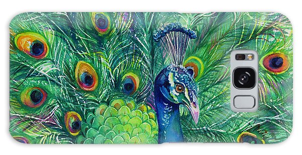 Iridescent Galaxy Case - Jeweled Peacock by Patricia Allingham Carlson