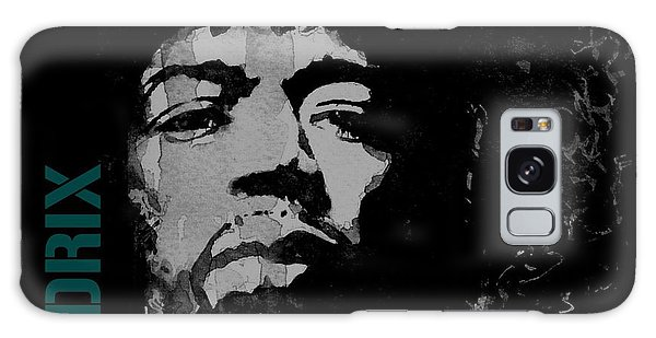 Usa Galaxy Case - Jimi Hendrix - Retro Black  by Paul Lovering