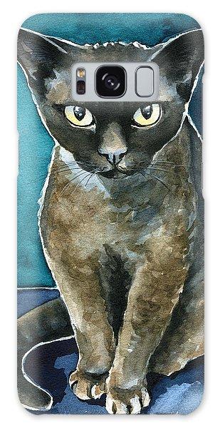 Joey - Devon Rex Cat Painting Galaxy Case
