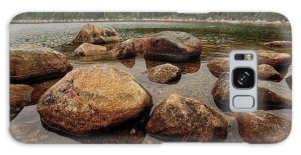 Jordon Pond Boulders Galaxy Case