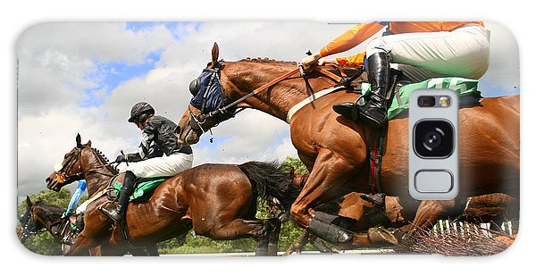 Gamble Galaxy Case - Jumping Horses by Neil Roy Johnson