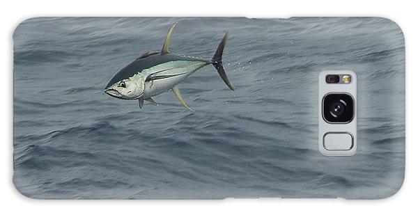 Jumping Yellowfin Tuna Galaxy Case