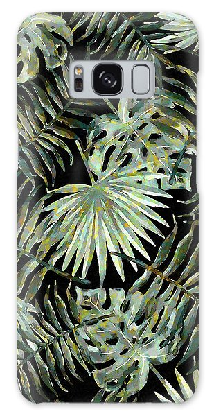 Jungle Dark Tropical Leaves Galaxy Case