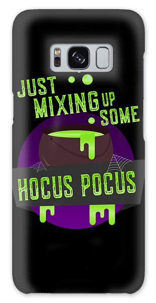 Just Mixing Some Hocus Pocus Halloween Witch Galaxy Case