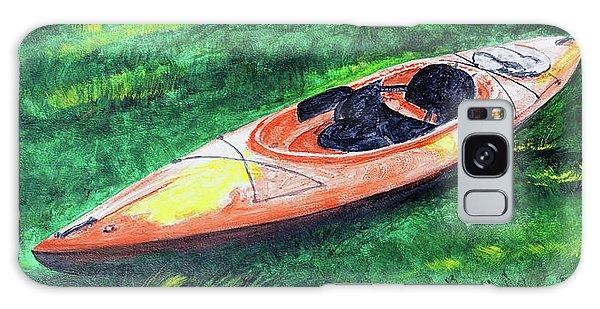 Kayak In The Grass Galaxy Case