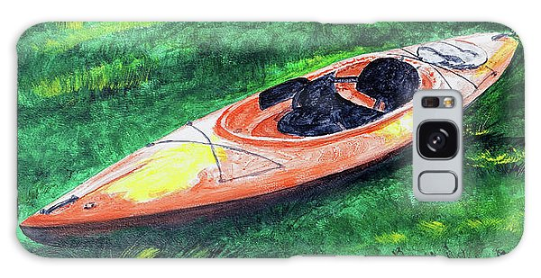 Kayak In The Grass Galaxy Case