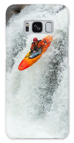 Sportsman Galaxy Case - Kayaker Jumping From A Waterfall by Ivan Chudakov