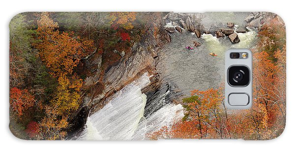 Scenery Galaxy Case - Kayakers Contemplate Going Down A Rapid by Esb Professional