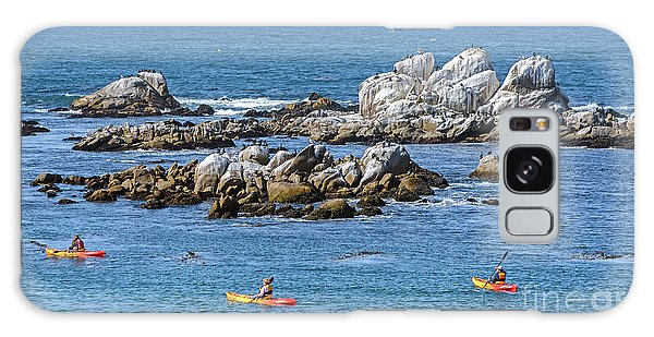 Kayakers Experience Bird Rock At Pacific Grove Galaxy Case