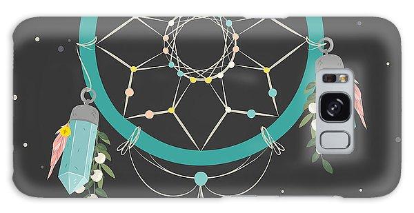 Keep Dreaming - Boho Chic Ethnic Nursery Art Poster Print Galaxy Case