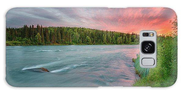 Galaxy Case featuring the photograph Kenai River Alaska Sunset by Nathan Bush