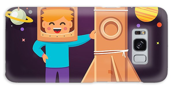 Spaceship Galaxy Case - Kid Making Cardboard Box Rocket And by Iconic Bestiary