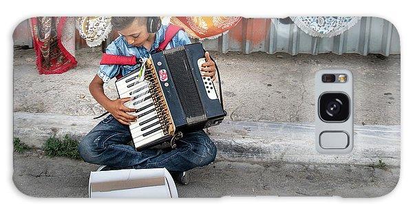 Kid Playing Accordeon Galaxy Case