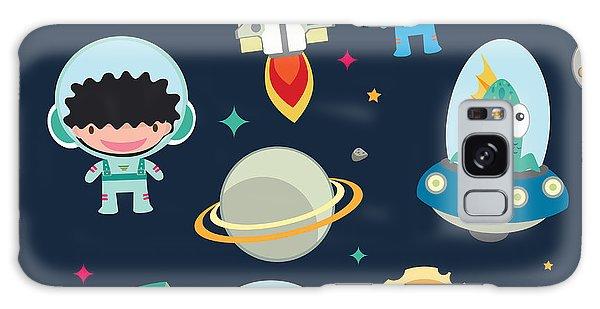 Spaceship Galaxy Case - Kids Space Seamless Pattern by Moobeer