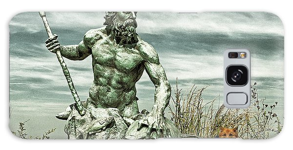 Galaxy Case featuring the photograph King Neptune And Miss Hanna At Cape Charles by Bill Swartwout Fine Art Photography