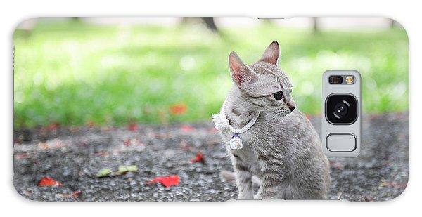 Tabby Galaxy Case - Kitten In The Garden by Mrtiger