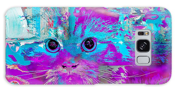 Kitty Collage Blue Galaxy Case