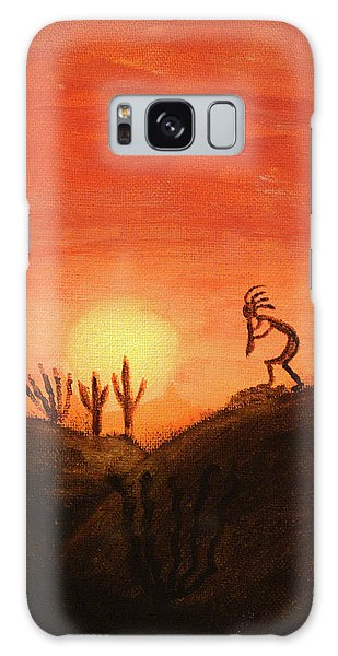 Kokopelli's Sunset Song Galaxy Case