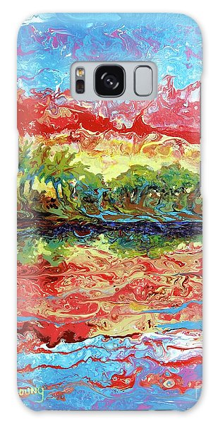 Lagoon Sunset Galaxy Case