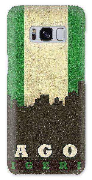 Nigeria Galaxy Case - Lagos Nigeria World City Flag Skyline by Design Turnpike