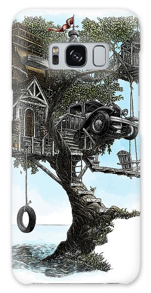 Lake Front Dream House Galaxy Case